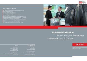 Produktinformation Bereitstellung und Betrieb von ... - DB Systel GmbH