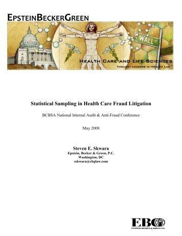 statistical sampling in health care fraud epstein becker green