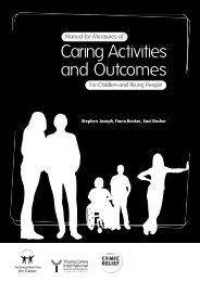 Caring Activities and Outcomes - The Princess Royal Trust for Carers