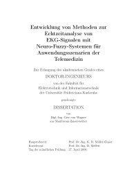 Entwicklung von Methoden zur Echtzeitanalyse von EKG ... - FZI