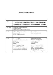 Submission to RSP 99 Performance Analysis of Real-Time ... - FZI