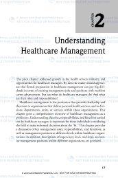 Understanding Healthcare Management - Jones & Bartlett Learning