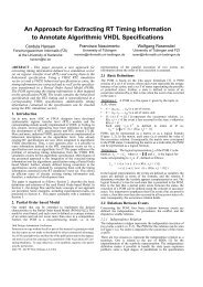 An Approach for Extracting RT Timing Information to Annotate ... - FZI