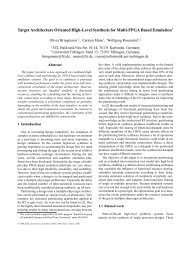 Target Architecture Oriented High-Level Synthesis for Multi ... - FZI