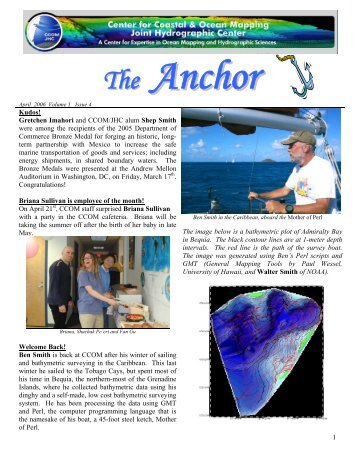 The Anchor, Vol. 1, Issue 4 - The Center for Coastal and Ocean ...