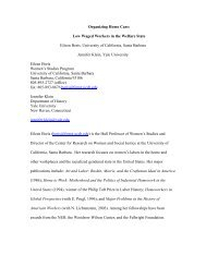 Organizing Home Care - UC Berkeley Labor Center - University of ...