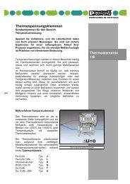 Thermospannungsklemmen - Sonderklemmen für ... - Phoenix Contact