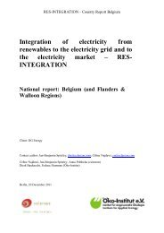 RES Integration Final National Report - Eclareon