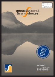 Acoustic Socket and Service Boxes Brochure - Sound Reduction ...