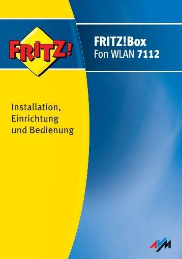 Handbuch FRITZ!Box Fon WLAN 7112 - AVM