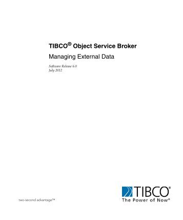 Object Service Broker - TIBCO Product Documentation