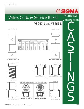 Valve, Curb, & Service Boxes - SIGMA Corporation
