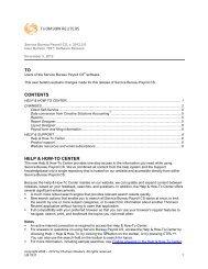 UB 7837 Service Bureau Payroll CS Software Release - Tax ...