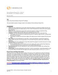 User Bulletin - Tax & Accounting - Thomson Reuters