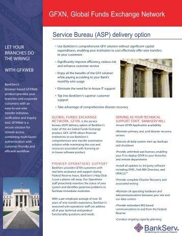 GFXN, Global Funds Exchange Network - BankServ