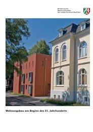 Wohnungsbau am Beginn des 21. Jahrhunderts - Stadt Aachen