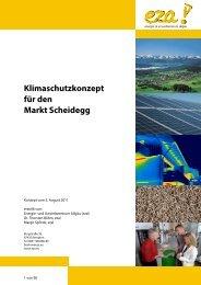Klimaschutzkonzept für den Markt Scheidegg