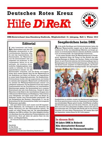 Hilfe DiReKt Wint - DRK-Kreisverband Jena-Eisenberg-Stadtroda e.V.