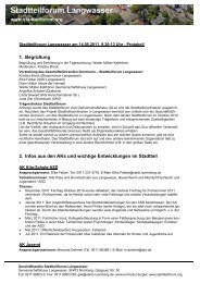 1. Begrüßung 2. Infos aus den AKs und wichtige Entwicklungen im ...