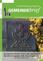 GEMEINDEbrief - Ev.-Luth. Kirchengemeinde .Zum Heiligen Kreuz.