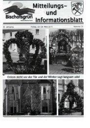 ä ~ rm atio n s - Gemeinde Bischofsgrün