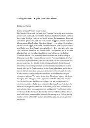 """Auszug aus dem 17. Kapitel """"Kafka und Koma ... - Windradmusik"""