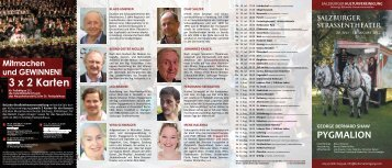 Programm Pygmalion - Salzburger Kulturvereinigung