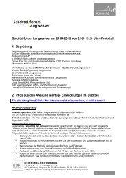 Stadtteilforum Langwasser am 21.04.2012 von 9.30- 13.20 Uhr ...