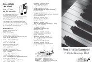 Europatage der Musik - VHS Landkreis Hof