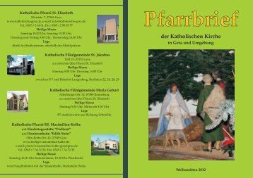 Pfarrbrief Januar 2013 - Katholische Pfarrei St. Elisabeth