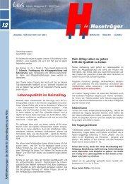 Ausgabe 12 Frühling/Sommer 2011 - Über uns