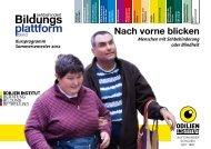 Nach vorne blicken - Bildungsplattform sehbehindert | blind