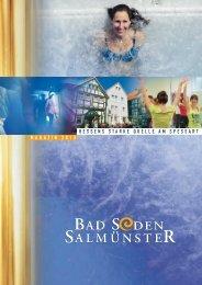 Magazin 2013 als Download-Version - Stadt Bad Soden -Salmünster
