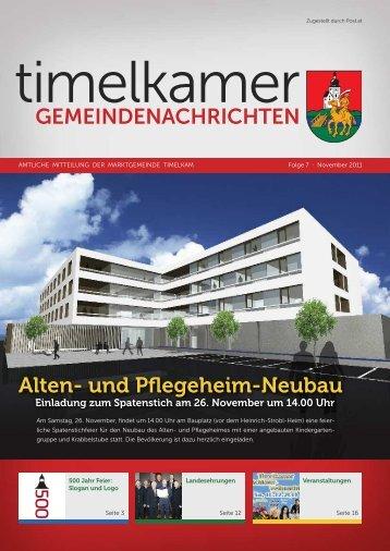 GEMEINDENACHRICHTEN Alten- und Pflegeheim ... - Timelkam