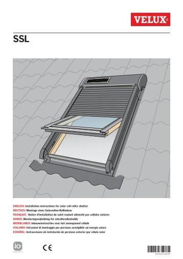 Zoz 157 velux for Velux solar blinds installation instructions