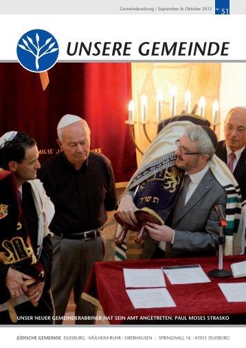 unsere gemeinde - Jüdische Gemeinde Duisburg - Mülheim/Ruhr ...