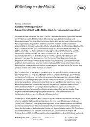 Medienmitteilung - Roche in Deutschland