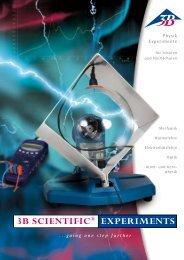 3B SCIENTIFIC® EXPERIMENTS - lehrmittel-bern.ch