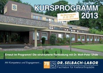 Selbach Kursprogramm 2013 Download hier (ca. 1,5MB