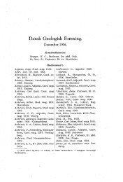 Medlemsfortegnelse s. A - Dansk Geologisk Forening