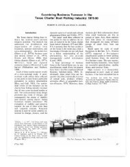 Examining Business Turnover in the Texas Charter Boat Fishing ...