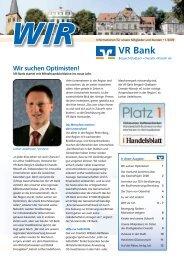 Wir suchen Optimisten! - VR Bank eG Bergisch Gladbach