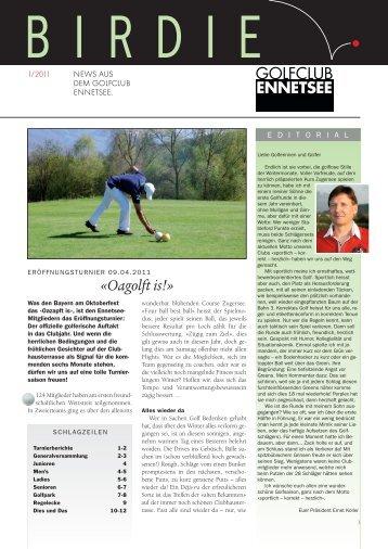 Birdie 1-11 - Golf Club Ennetsee