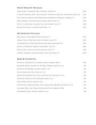 White Wines By The Glass - Cass House