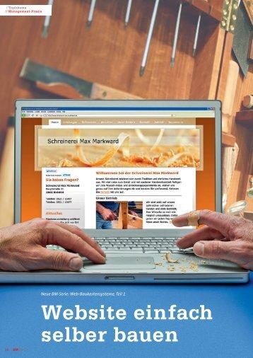 Website einfach selber bauen - Schreinerei Drautzburg