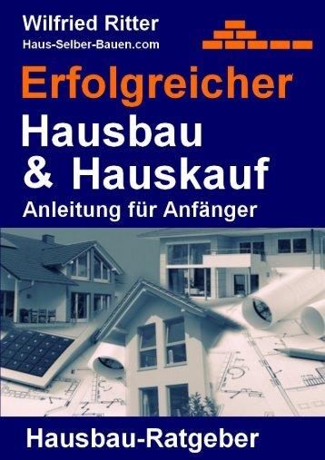 Leseprobe - Inhalt - Haus Selber Bauen