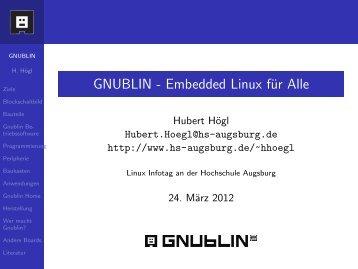 GNUBLIN - Embedded Linux für Alle - LUGA