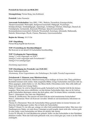 Protokoll - Studierendenvertretung - LMU