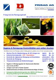 Hygiene & Reinigungs Kontrollblätter zum selber drucken - Frisag AG