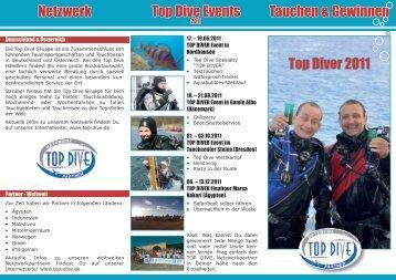 Tauchen & Gewinnen Top Diver 2011 Top Dive Events Netzwerk